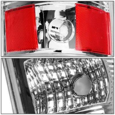 Chevy Silverado 2500HD 2003-2006 Chrome LED Tail Lights Tube