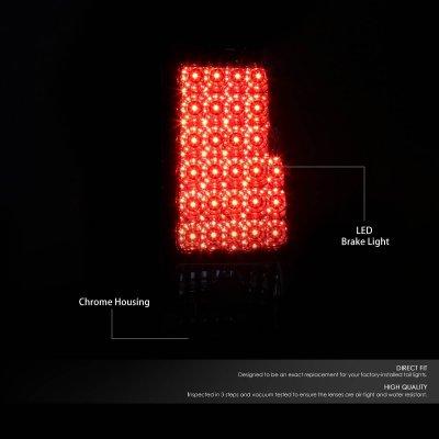 Chevy Silverado 2003-2006 Chrome LED Tail Lights