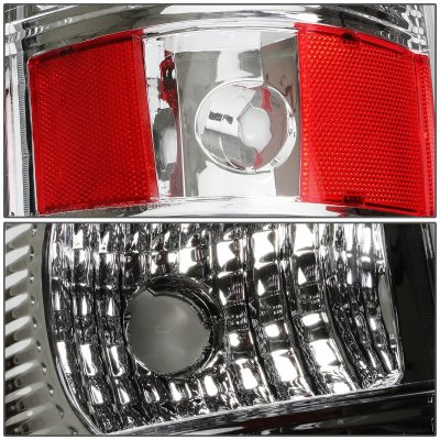Chevy Silverado 2500HD 2003-2006 Chrome LED Tail Lights