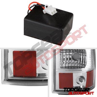 Chevy Silverado 2500HD 2003-2006 Chrome LED Tail Lights Red Tube
