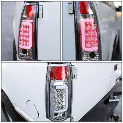 Cadillac Escalade 1999-2000 Chrome LED Tail Lights Tube