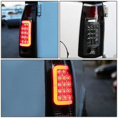 1993 Chevy 3500 Pickup Smoked LED Tail Lights Tube