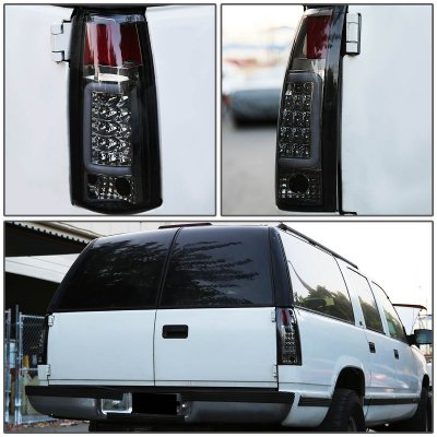 Chevy Blazer Full Size 1992-1994 Smoked LED Tail Lights Tube