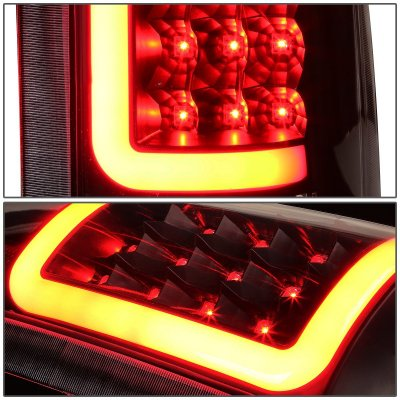 Chevy Tahoe 1995-1999 Black LED Tail Lights Red Tube