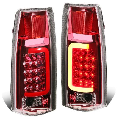 GMC Sierra 1988-1998 LED Tail Lights Red Tube