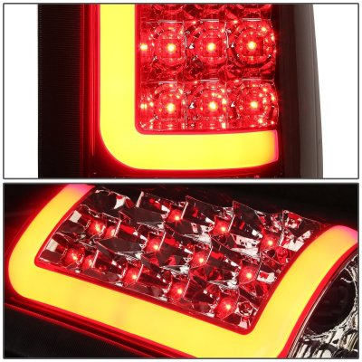 Chevy 3500 Pickup 1988-1998 Smoked LED Tail Lights Red Tube