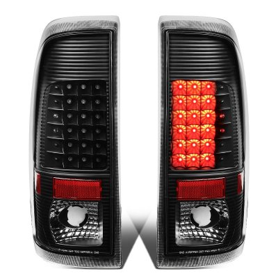 Ford F450 Super Duty 2008-2016 Black LED Tail Lights