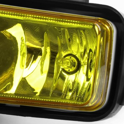 Chevy Suburban 2015-2017 Yellow Fog Lights Chrome Trim