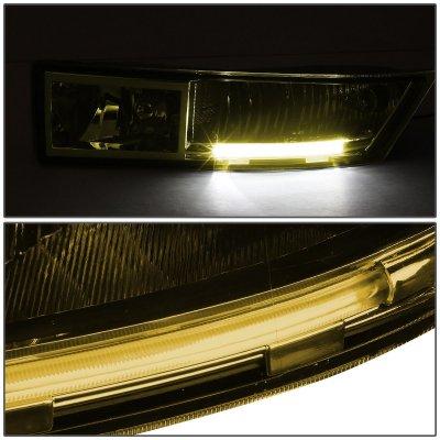 Cadillac Escalade 2007-2014 Yellow Fog Lights LED DRL