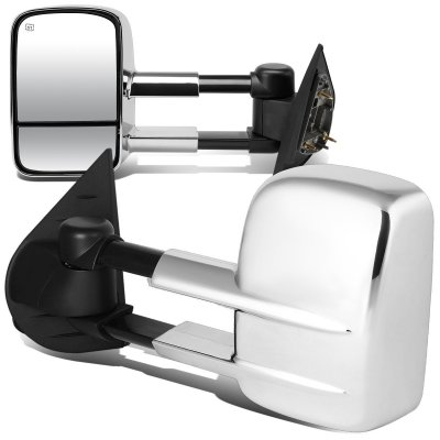 Chevy Silverado 2500HD 2007-2014 Chrome Towing Mirrors Power Heated