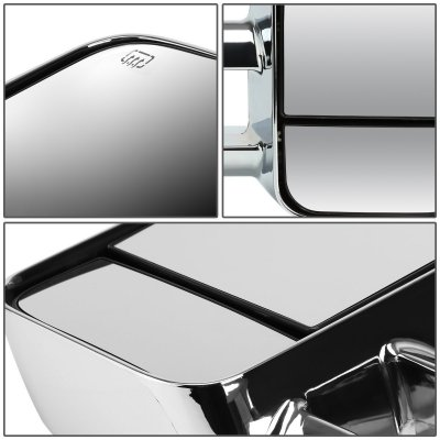 Chevy Suburban 2007-2014 Chrome Towing Mirrors Power Heated