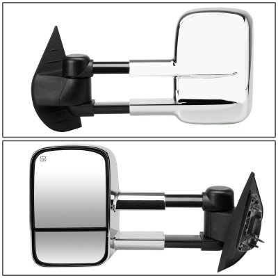 GMC Yukon XL Denali 2007-2014 Chrome Towing Mirrors Power Heated
