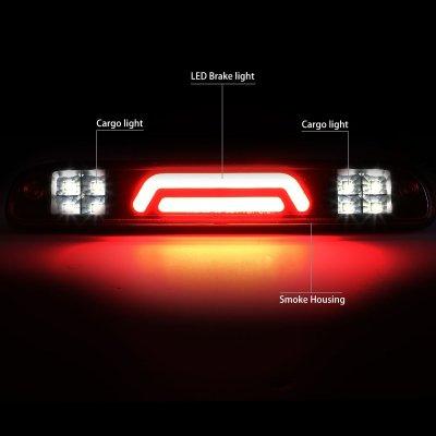 Ford F450 Super Duty 1999-2016 Black Smoked Tube LED Third Brake Light Cargo Light