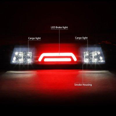 Chevy Silverado 2500HD 2015-2019 Black Smoked Tube LED Third Brake Light Cargo Light