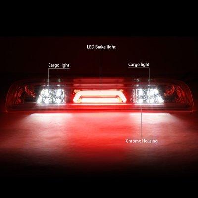 Chevy Silverado 2500HD 2015-2017 Clear Tube LED Third Brake Light Cargo Light