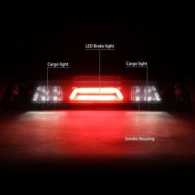 Chevy Silverado 2014-2018 Smoked Tube LED Third Brake Light Cargo Light