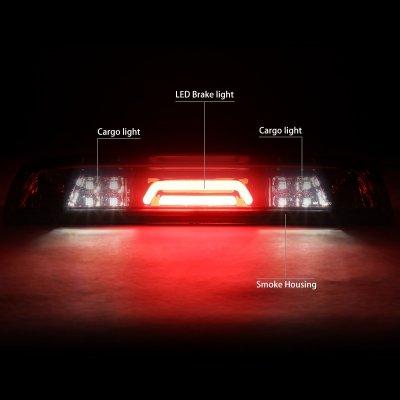 Chevy Silverado 2500HD 2015-2017 Smoked Tube LED Third Brake Light Cargo Light