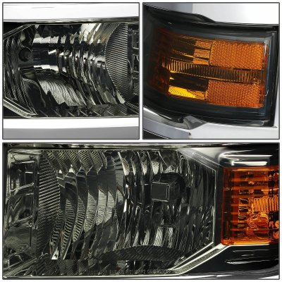 Chevy Silverado 1500 2014-2015 Smoked Headlights