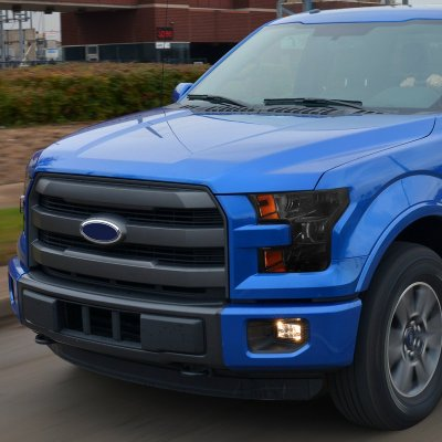Ford F150 2015 2017 Smoked Halogen Headlights