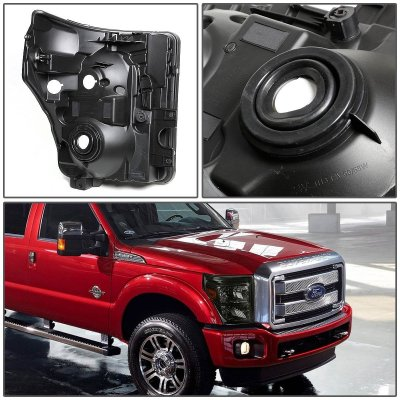 Ford F450 Super Duty 2011-2016 Smoked Headlights