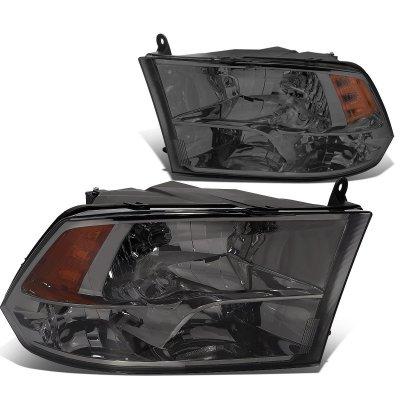 Dodge Ram 2500 2010-2018 Smoked Quad Headlights
