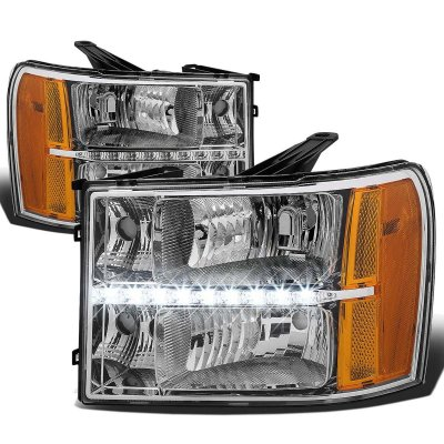 GMC Sierra 2007-2013 Headlights LED DRL