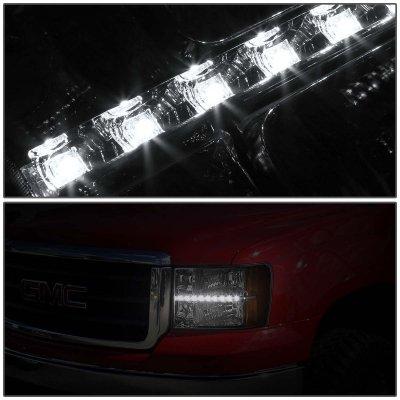 GMC Sierra 2007-2013 Headlights LED DRL