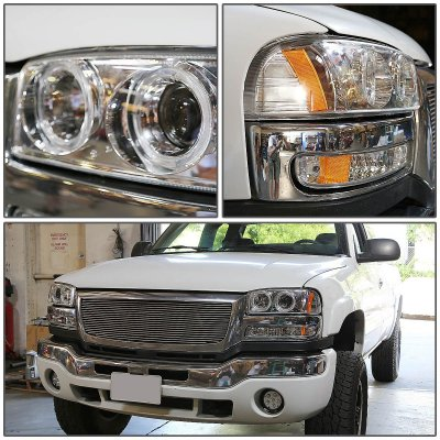 GMC Sierra 1999-2002 Halo Projector Headlights and Bumper Lights