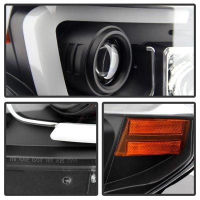 Toyota Tundra 2014-2017 Black LED DRL Projector Headlights