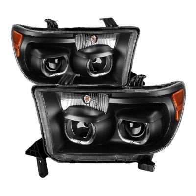 Toyota Tundra 2007-2013 Black Halo Projector Headlights