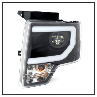 Ford F150 2013-2014 Black LED DRL HID Projector Headlights