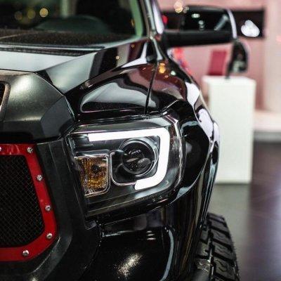 Toyota Tundra 2014-2017 Black LED DRL Projector Headlights LED Tail Lights Tube