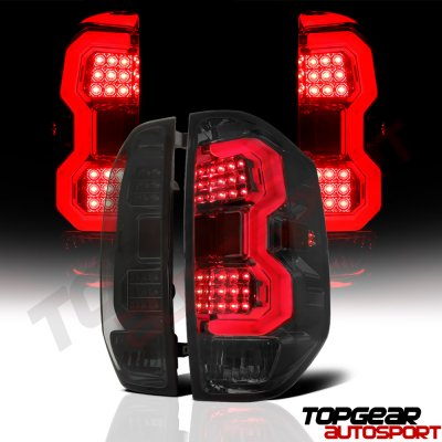 Toyota Tundra 2014-2017 Smoked LED DRL Projector Headlights LED Tail Lights Tube