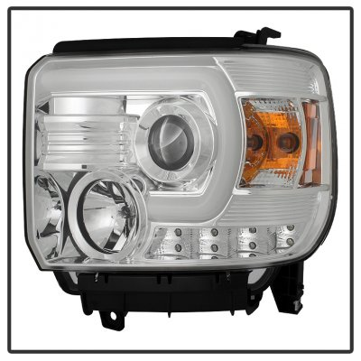 GMC Sierra 2014-2015 LED DRL Projector Headlights