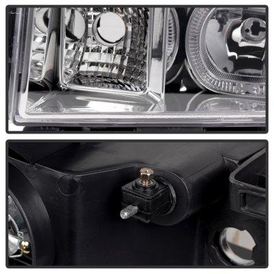 GMC Sierra 2007-2013 Halo Projector Headlights LED
