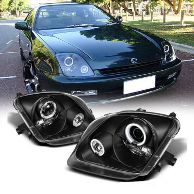 Honda Prelude 1997-2001 Black Halo Projector Headlights