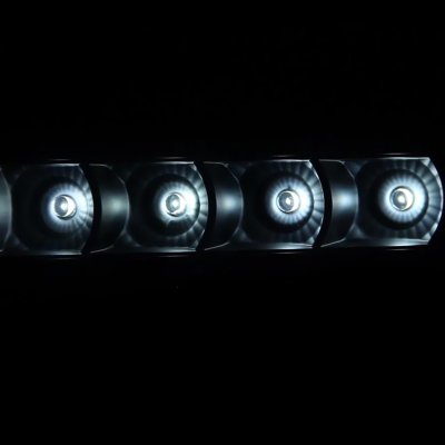 Ford F250 Super Duty 2008-2010 Black Smoked Halo Projector Headlights LED