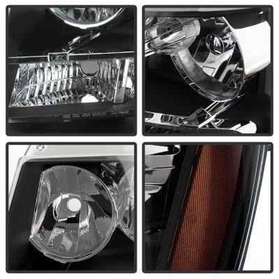 Chevy Suburban 2007-2014 Black Headlights
