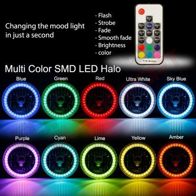 Mazda Miata 1990-1997 Color SMD LED Headlights Kit Remote