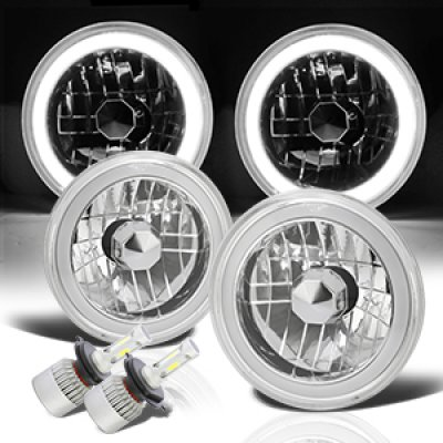 1976 Chevy Suburban Halo Tube LED Headlights Kit