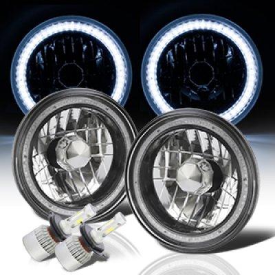 Chevy Blazer 1969-1979 SMD Halo Black Chrome LED Headlights Kit