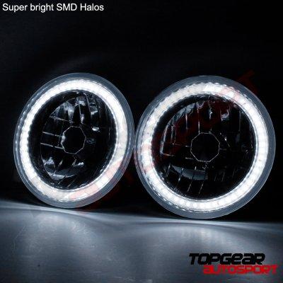 Ford F100 1969-1979 SMD Halo Black Chrome LED Headlights Kit