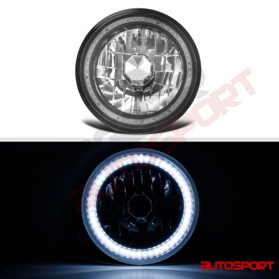Mazda RX7 1978-1985 SMD Halo Black Chrome LED Headlights Kit