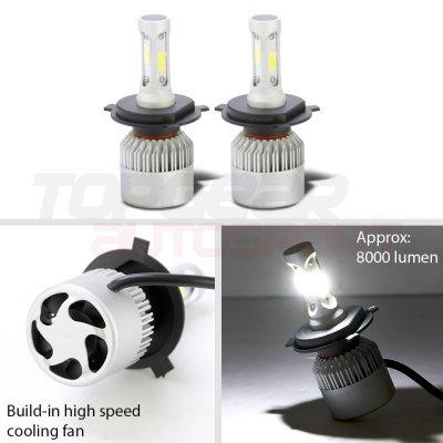 1975 Mercury Comet SMD Halo Black Chrome LED Headlights Kit