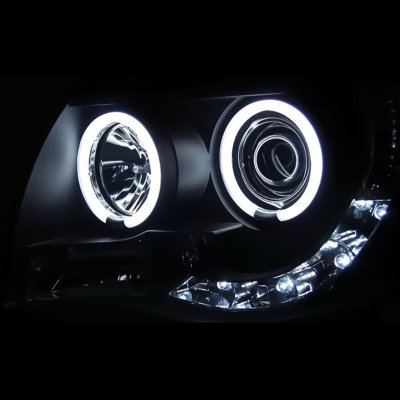 Toyota Tacoma 2005-2011 Black Smoked CCFL Halo Projector Headlights LED