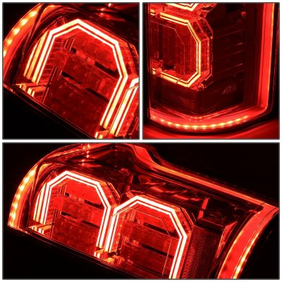 Ford F150 2015-2017 Smoked LED Tail Lights Outline