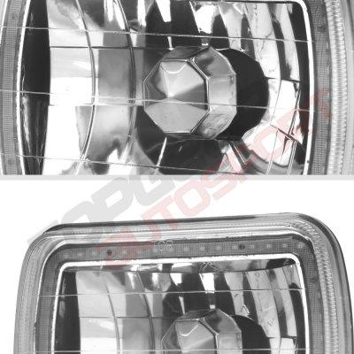 Chevy Blazer 1980-1994 Color SMD Halo LED Headlights Kit Remote