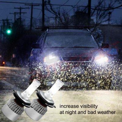 Jeep Wrangler 1987-1995 H4 LED Headlight Bulbs