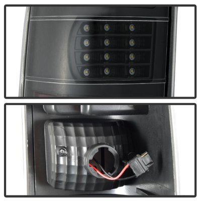 Chevy Silverado 2003-2006 Black Full LED Tail Lights
