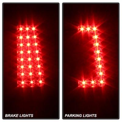 Chevy Silverado 2003-2006 Black Custom LED Tail Lights